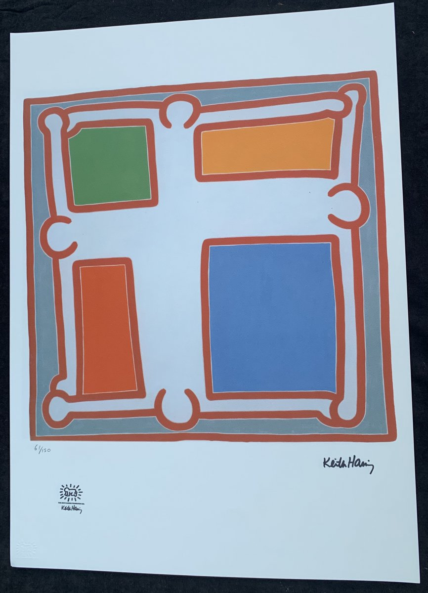 Sérigraphies Keith HÄRING(1958-1990) s/vélin, justifiées; tirages cachet sec de sa Fondation