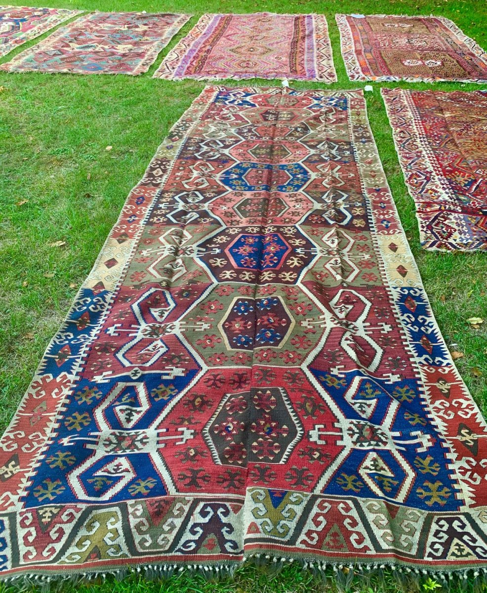 Very Large Kilim, Anatolia, 2nd Half XIXth Cty