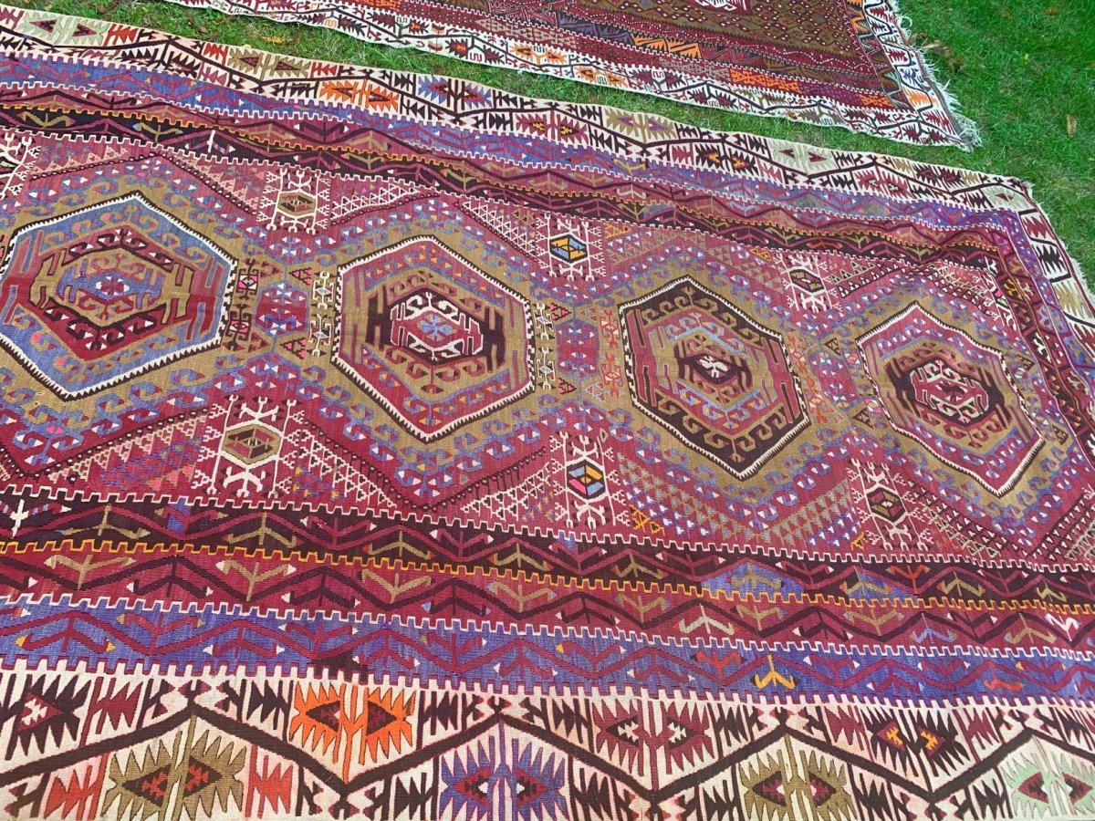 Very Large Kilim, Anatolia, 2nd Half  XIXth Cty