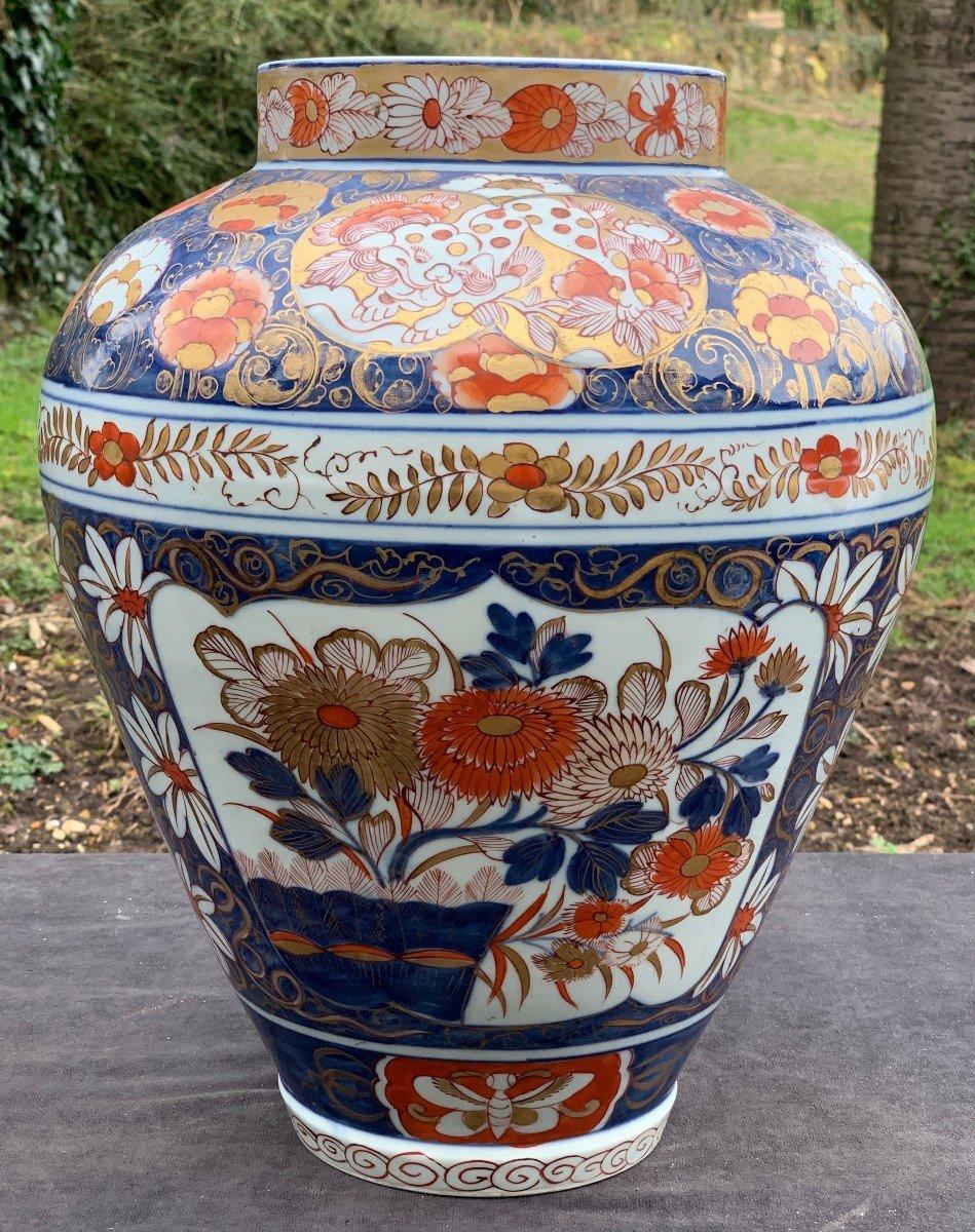 Très grand vase décor Imari Chine XIXe s