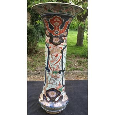 Gd Vase Cornet Imari Japon Fin XVIIe S