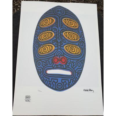 2. Keith HÄring (1958-1990) S / Vellum, Justified Screenprints; Dry Stamp Drawings From His Foundation