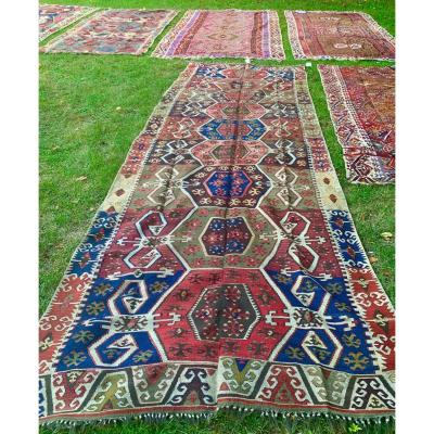 Very Large Kilim, Anatolia, 2nd Half Of XIXth Cty