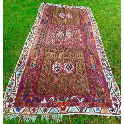 Very Large Kilim Anatolia 2nd Half Of The 19th S
