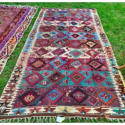 Very Large Kilim Anatolia Middle XIXth