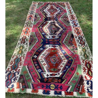 Very Large Kilim Anatolia Mid Nineteenth
