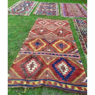 Very Large Kilim Anatolia Middle XIXth Cty