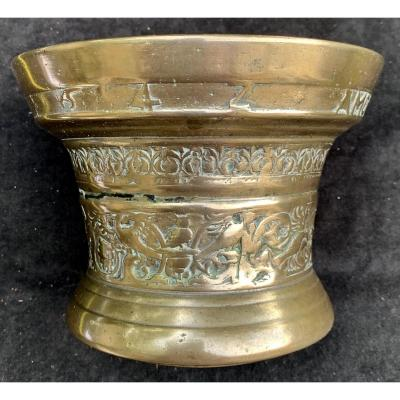 Important Holl Bronze Mortar Dated 1642, Flanders