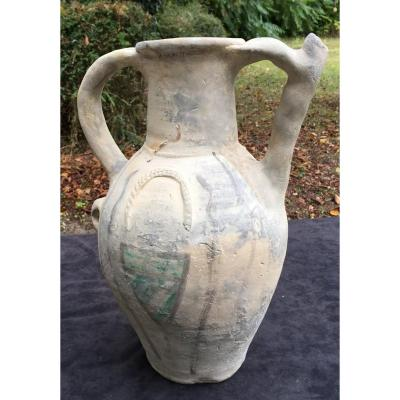 XII-xiiith Rare Large Medieval Pitcher Ptd Crest