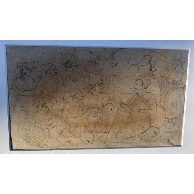 "XIXth Indian Drawing ""the Teaching"""