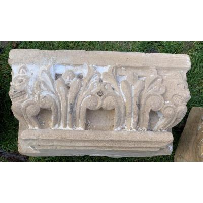 4 Stone Carved Architectural Marquee Fantastic Bestiary