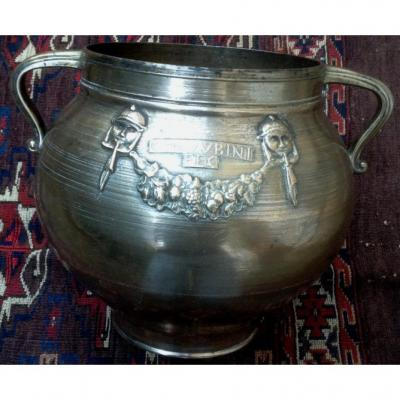 Italie XVIe Marmite bronze CHERUBINI FECIT
