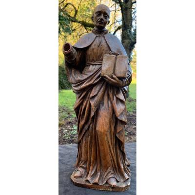 Indo Eur XVII / XVIIIth Statue With Sulphide Eyes