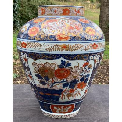 Very Large Vase Decor Imari China 19th Century