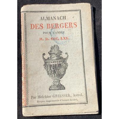 Curiosité: rare calendrier berger Melchior Griesser 1861
