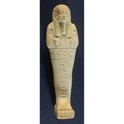 Bel oushebti fritte Egypte XXXe dynatsie (IVe avt JC)