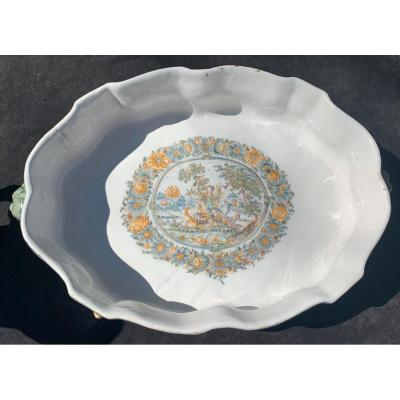 Mid 18th Cty Large Moustiers Fountain Basin Mythological Thema