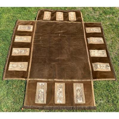 Church Altar Tablecloth With 15 XVth Cty Orphreys