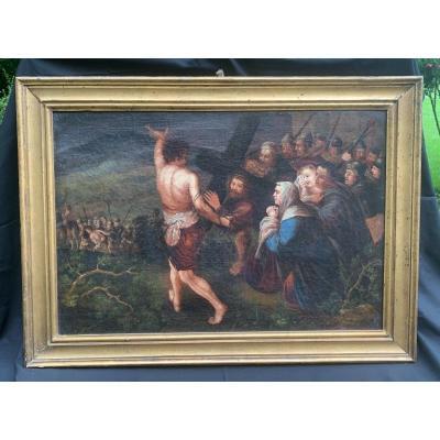 HST XVIIe Le Portement de croix / la Passion du Christ