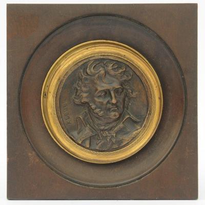 Bronze Medallion Jean-baptiste Kléber By Sculptor Pierre Jean David d'Angers (1788-1856)