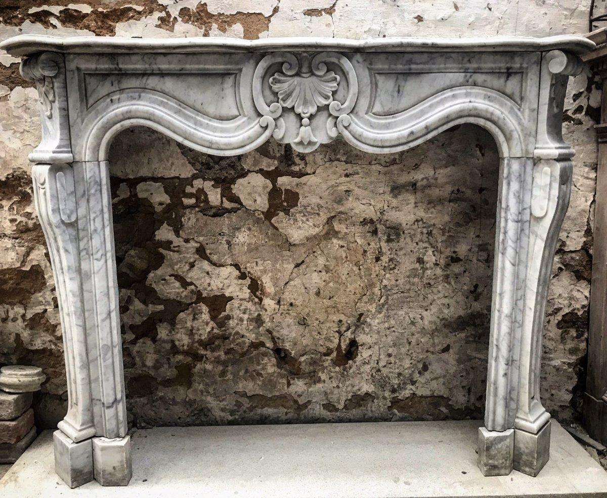 Louis XV Napoleon III Fireplace In Carrara Marble