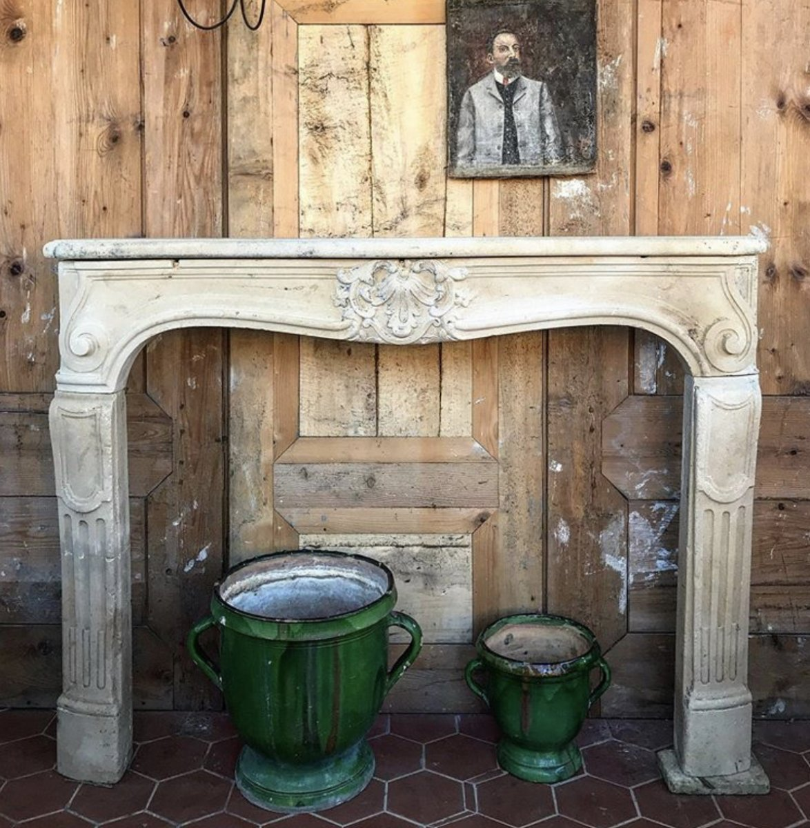 Beautiful Louis XV Stone Fireplace From The 18th Century