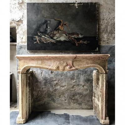 Louis XIV Stone Fireplace With Sublime Patina