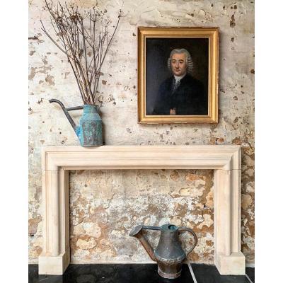19th Century English Bath Stone Bolection Fireplace