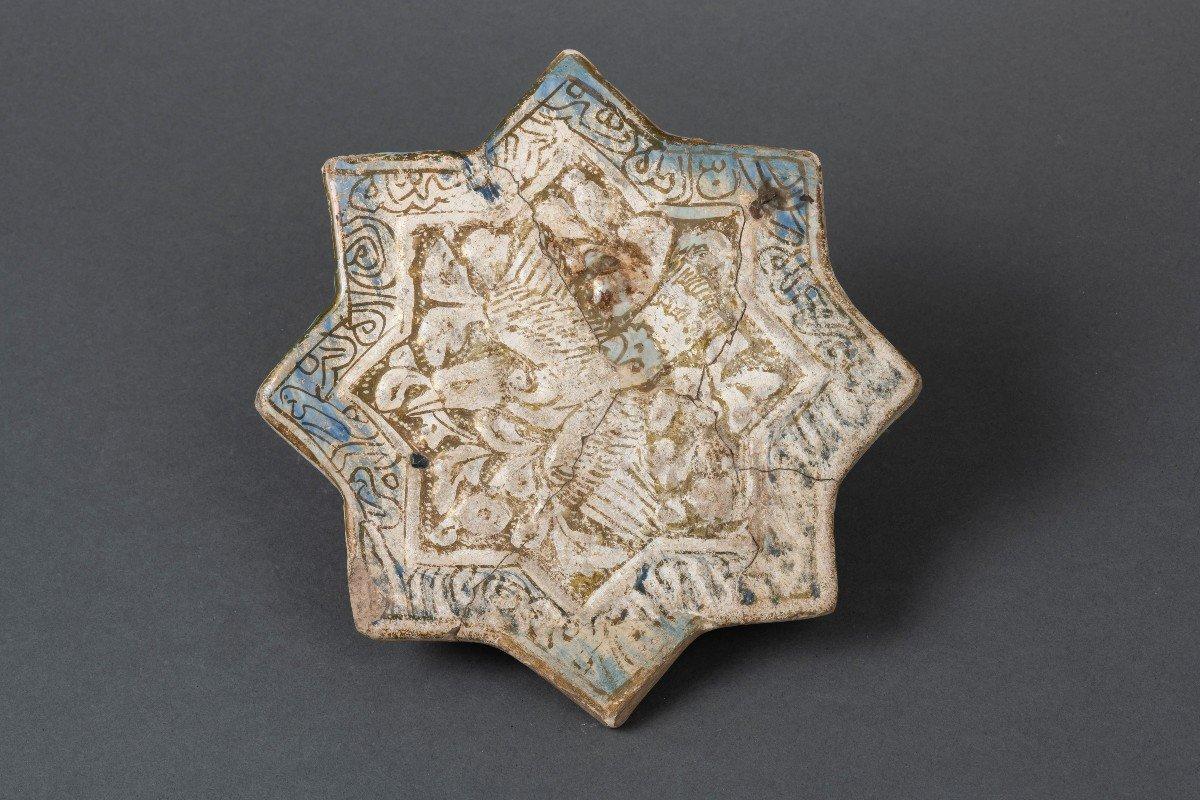 Carreau Au Phoenix - Iran, Fin Du XIIIe Siècle
