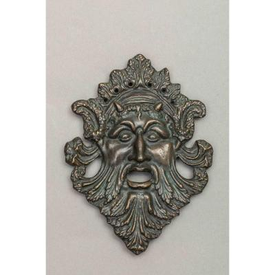 Bronze Plaque: Satyr's Head - Italy, 16th Century