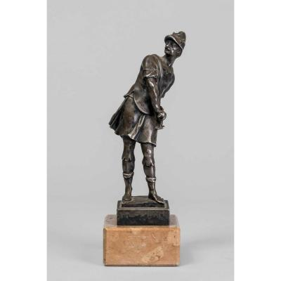 Bronze Warrior Dressing At The Antique Style