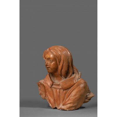 Bust Of An Angel Renaissance Tuscany  Early XVI