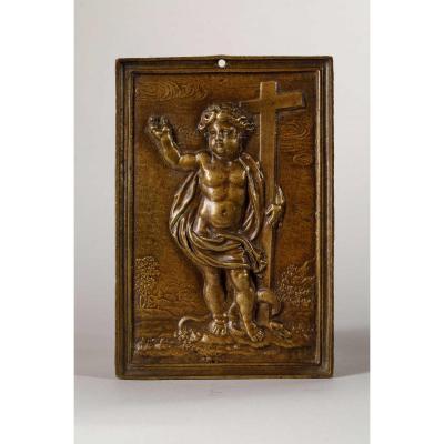 Plaquette En Bronze Représentant Le Christ Triomphant, Espagne, XVIIe Siècle