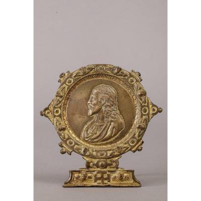 Baiser De Paix En Bronze - Italie,fin du  XVIe Siècle