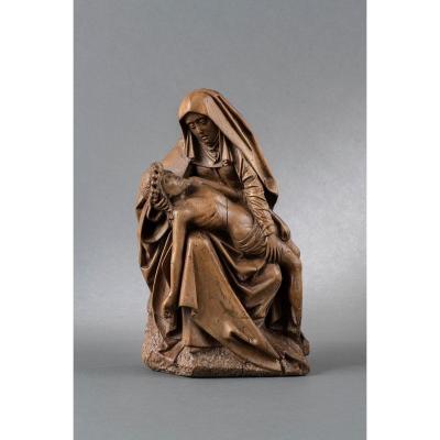 Pieta En Noyer - Pays-Bas Bourguignons, Seconde Moitié Du XVe Siècle