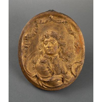 Portrait Présumé De Monsieur En Terre-cuite,  Signé Jacques Ducrocq Et Daté De 1689 - Bourgogne