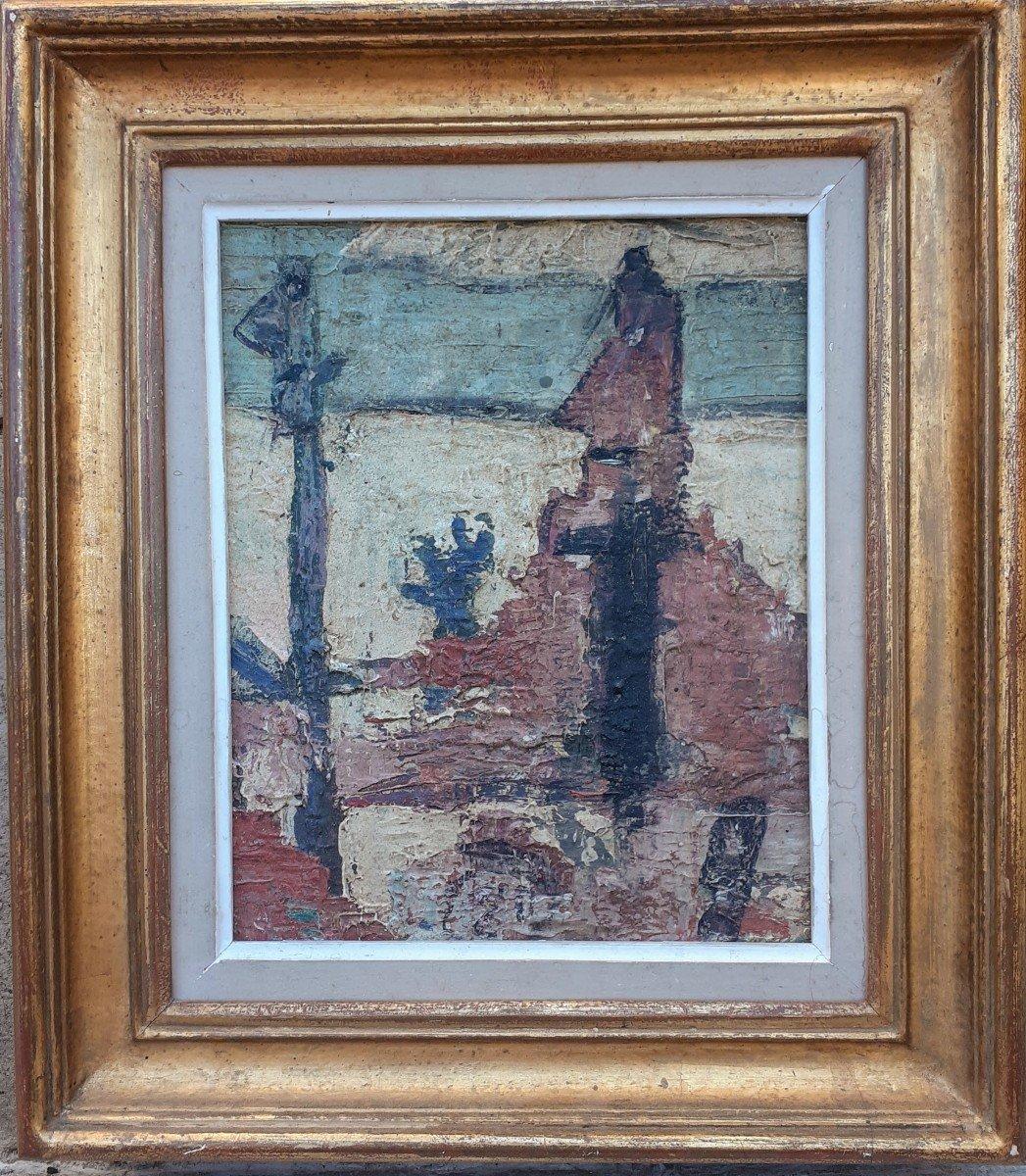 Art Brut, école De Dubuffet Années 50: Personnages Abstraites Statues De l'Ile De Pâques-photo-3