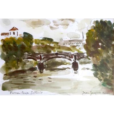 Jean Jacques René: Rome Ponte Sublico Italie Belle Provenance