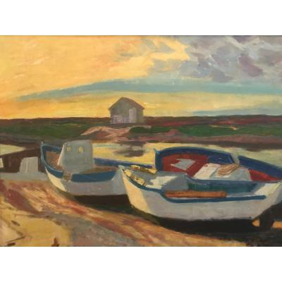 Boats In The Sun / Berthomme De St André