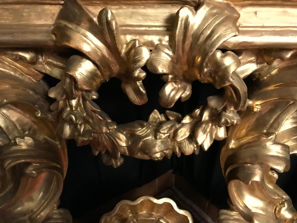 Priest God In Golden Wood Epoque Eighteenth-photo-2