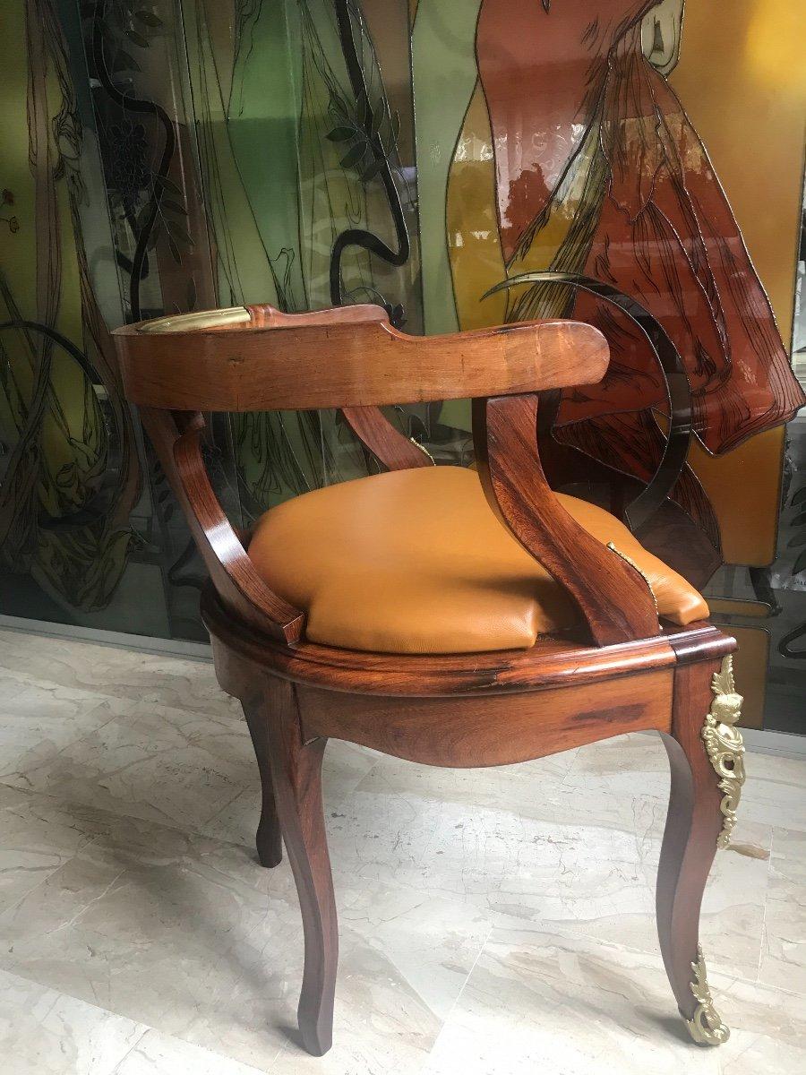 Fauteuil De Bureau Style Louis XV-photo-2