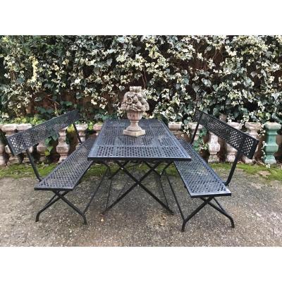 Salon De Jardin En Fer Forgé Noir
