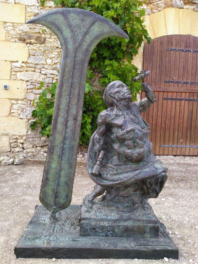 The Dwarf Sculptor - Bronze By Michel Lévy - Ea 2/4 - 140cm Height-