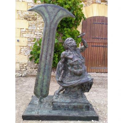 The Dwarf Sculptor - Bronze By Michel Lévy - Ea 2/4 - 140cm Height-