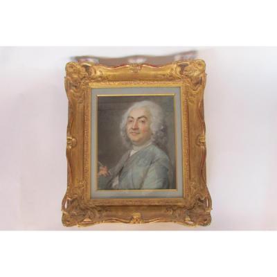 Portrait d'Un Peintre Dans Le style Du XVIIIème