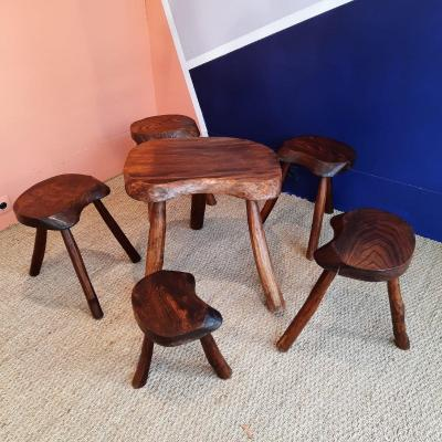 Brutalist Table And Stools