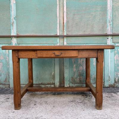 Table / Bureau En Chêne Massif