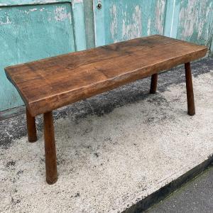 Brutalist Bench In Solid Oak