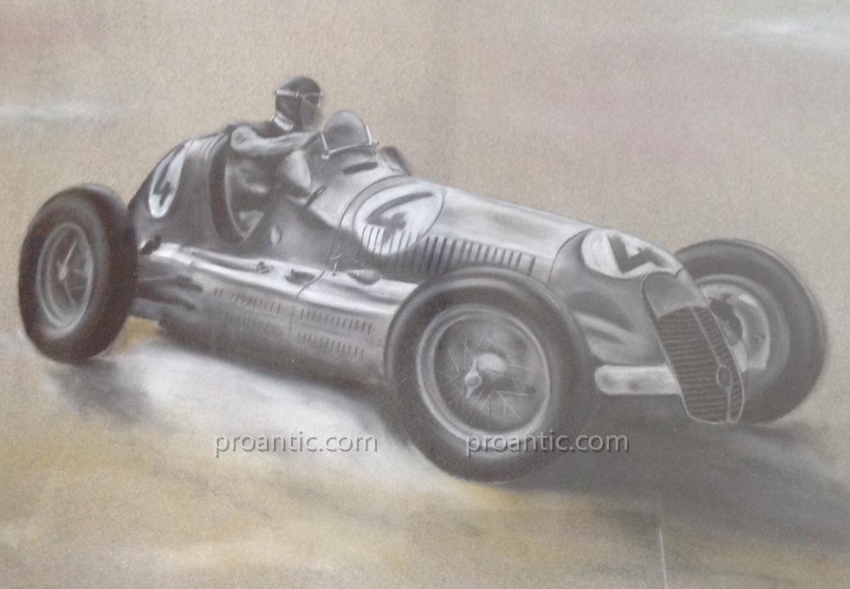dessin voiture de course f 1 1950 alfa romeo sign lemoine dessins. Black Bedroom Furniture Sets. Home Design Ideas