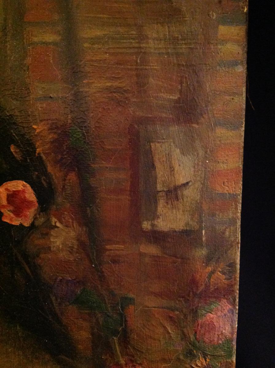 Le reflet du miroir huile sur toile sign e dongen for Le reflet du miroir